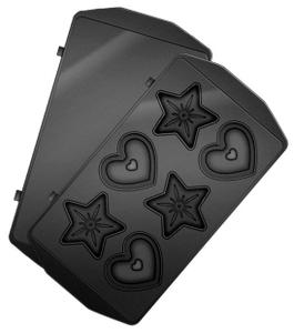 Панель для мультипекаря REDMOND RAMB-24 (Сердечки и звёздочки) (Черный)