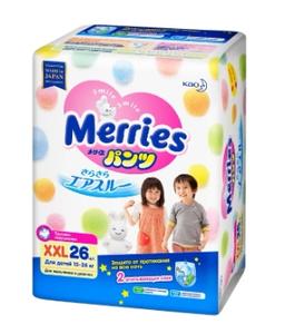 Трусики-подгузники XXL 26 шт (15-28 кг) Merries