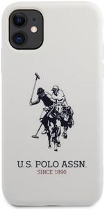 Чехол U.S. Polo Assn. для iPhone 11 Liquid silicone Big horse Hard White