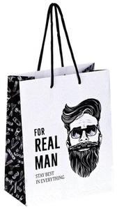 """Пакет подарочный 18*23*10см ArtSpace """"Real Man"""", ламинированный"""