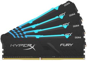 Оперативная память HyperX FURY RGB [HX436C18FB4AK4/64] 64 Гб DDR4