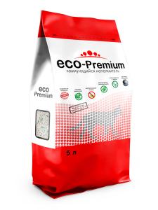 """Наполнитель комкующийся гигиенический """"Eco - Premium"""" 5л."""
