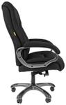 Кресло офисное Chairman 410 чёрное (акриловая ткань, пружинный блок, пластик, газпатрон 4 кл, ролики, механизм качания) <7025870>