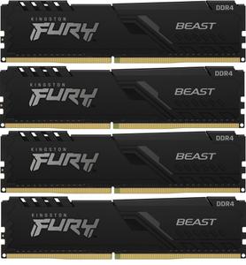 Оперативная память Kingston FURY Beast [KF436C17BBK4/32] 32 Гб DDR4