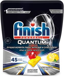 Таблетки для посудомоечных машин Quantum Ultimate 45шт лимон Finish