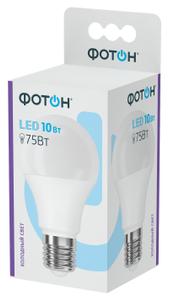Лампа светодиодная ФОТОН LED A60 10W E27 6500K 10/50