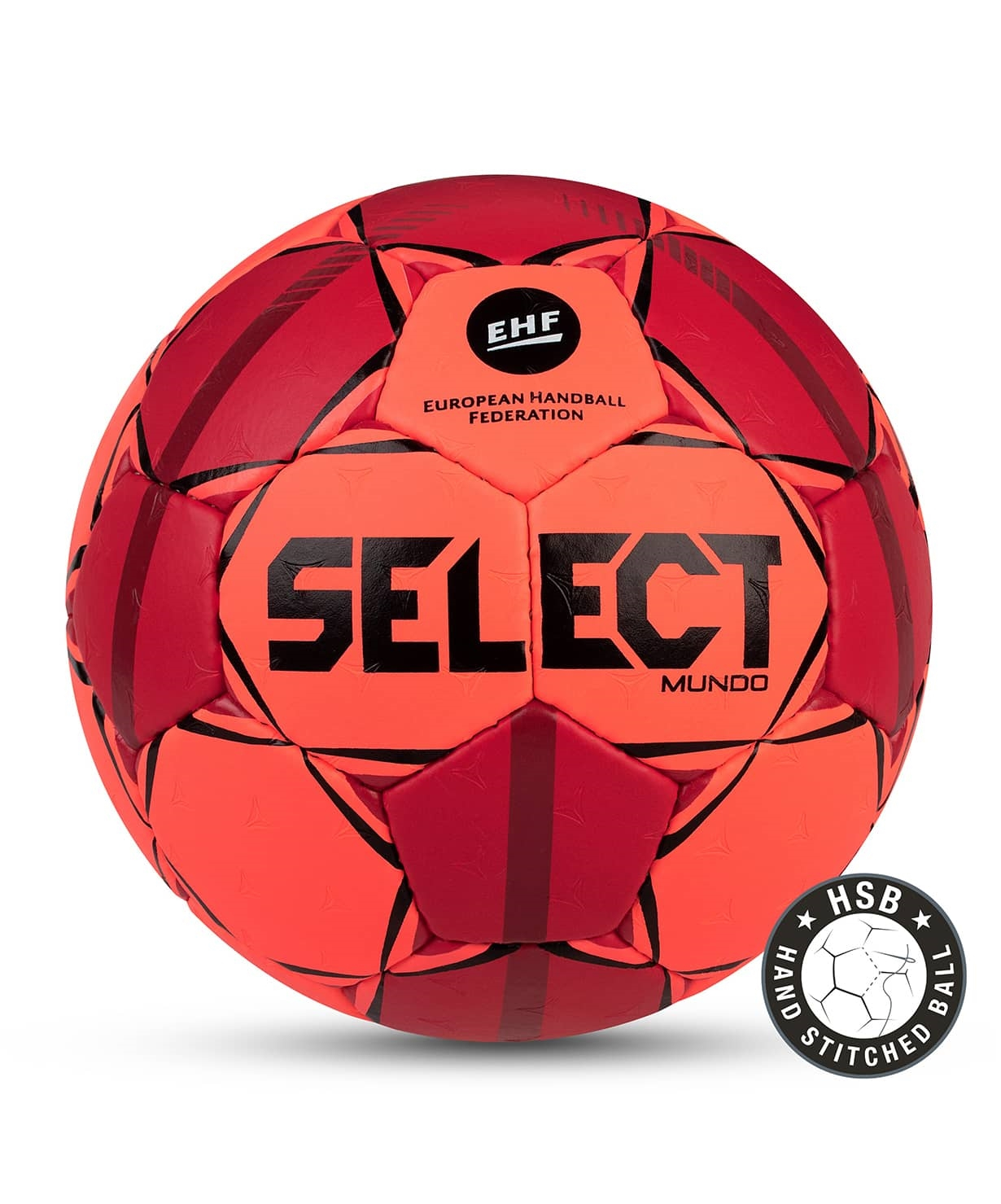 Мяч гандбольный MUNDO №2, оранж/крас/чер