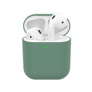 Чехол силиконовый Deppa Ultra Slim для AirPods 1/2 (Темно-Зеленый)