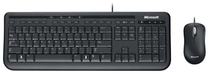 Комплект клавиатуры и мыши Microsoft Wired Desktop 600