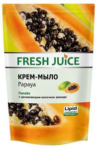 """Крем-мыло """"Papaya"""" (папайя) с увлажняющим молочком авокадо Дой-ПАК 460мл Fresh Juice"""