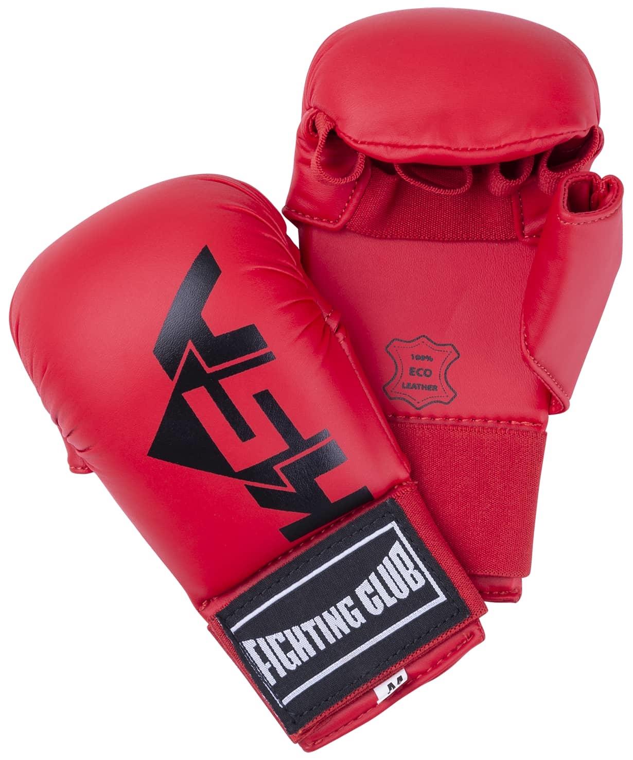 Накладки для карате Kick Red,  к/з, детский