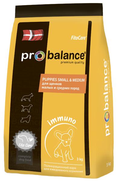 """Сухой корм для собак ProBalance """"Immuno Protection"""" для маленьких и средних пород 2 шт. х 3 кг."""