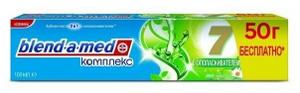 Зубная паста Комплекс 7 с ополаскивателем Травы 100мл BLEND-A-MED