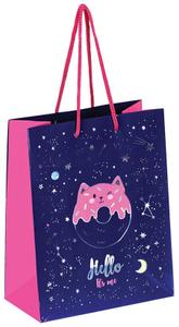 """Пакет подарочный 18*23*10см ArtSpace """"Space cat"""", отд. фольгой, ламинированный"""