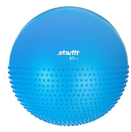 Мяч гимнастический полумассажный STARFIT GB-201 65 см, синий (антивзрыв) 1/10
