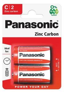 Батарейка Panasonic Zinc Carbon C/R14 (2 шт)
