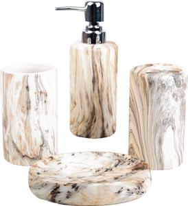 Набор аксессуаров для ванной комнаты «Преображение камня», 4 предмета
