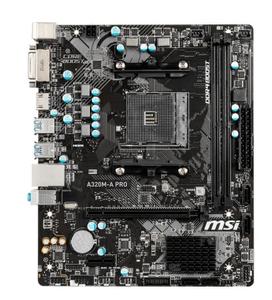 Материнская плата MSI A320M-A PRO (RTL) AM4 <A320> PCI-E DVI+HDMI GbLAN SATA RAID MicroATX 2DDR4, после ремонта