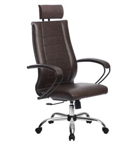 Кресло для руководителя Метта Комплект 32 (БЕЗ ОСНОВАНИЯ) коричневый