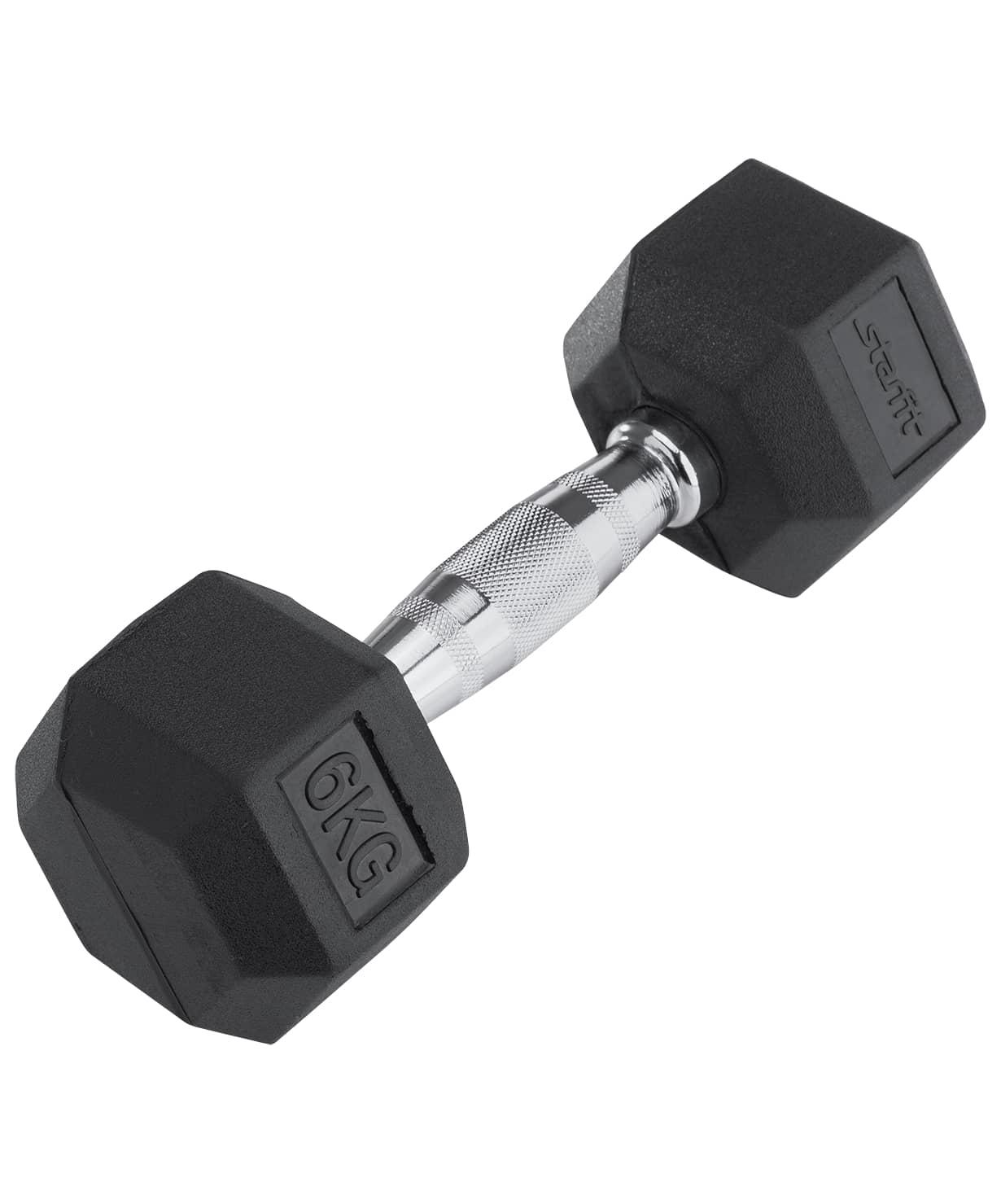 Гантель обрезиненная DB-301 6 кг, черная