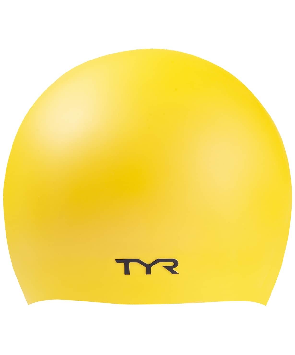 Шапочка для плавания Wrinkle-Free Silicone Cap, силикон, LCSL/720, желтый