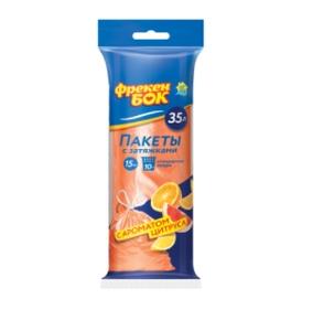 Мешки для мусора с затяжками 15шт/35л цитрус Фрекен Бок