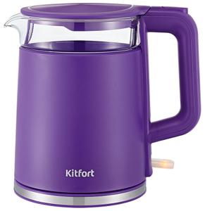 Чайник электрический Kitfort KT-6124-1 фиолетовый
