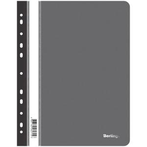 Папка-скоросшиватель пластик. перф. Berlingo, А4, 180мкм, черная