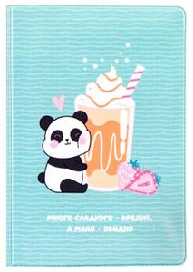 """Обложка для паспорта MESHU """"Sweet panda"""", ПВХ, 2 кармана"""