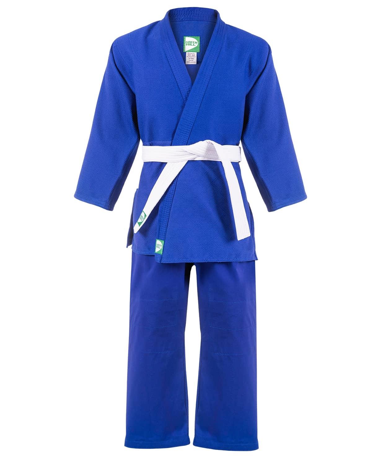 Кимоно для дзюдо MA-302 синий, р.2/150