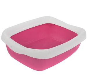 """Туалет для кошек с бортиком """"Твик"""" 31*42*11 Розовый"""