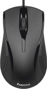 Мышь проводная Hama MC-200 черный