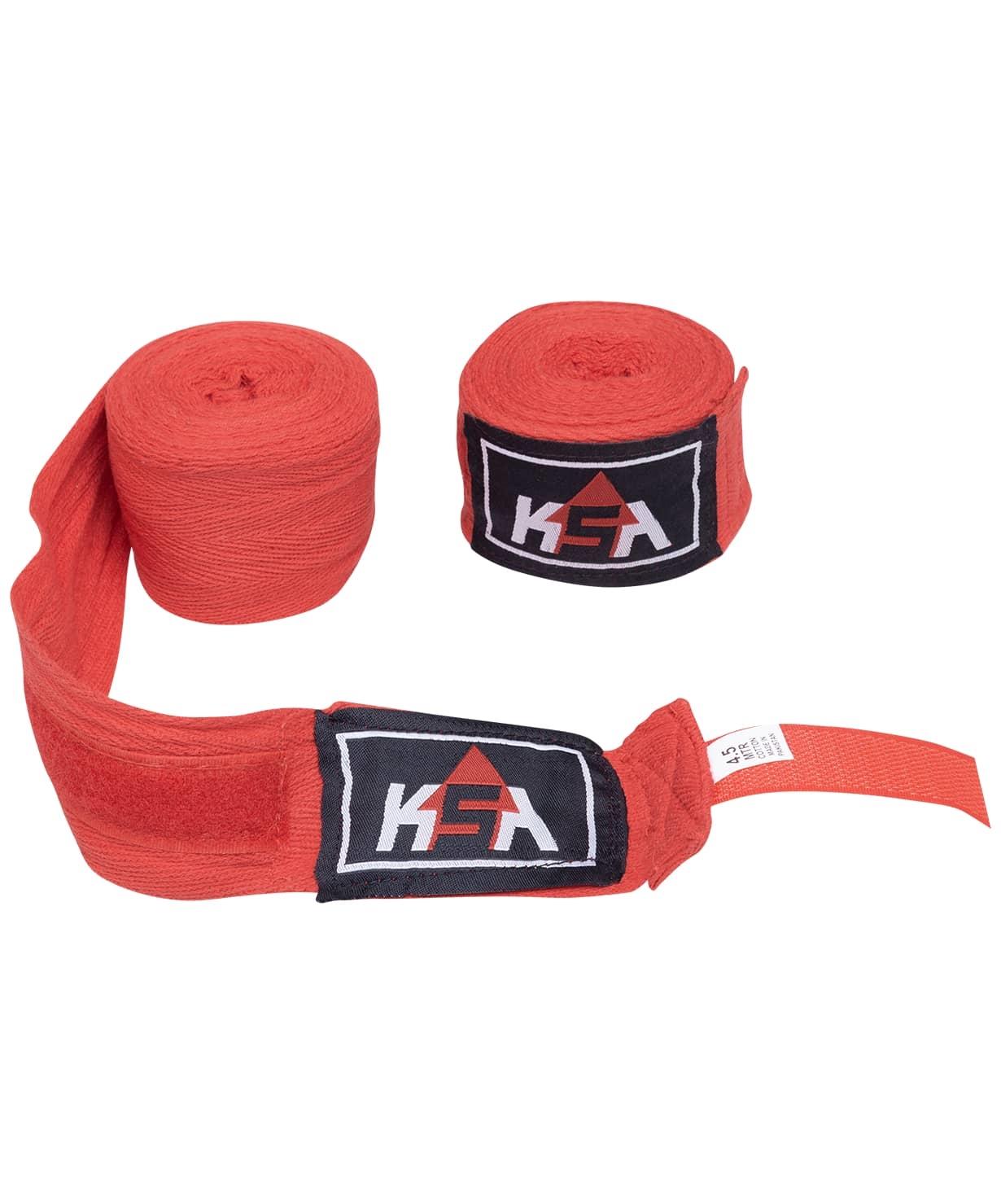Бинт боксерский Stalker Red, хлопок, 4.5 м
