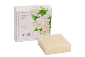 Натуральное твёрдое мыло ручной работы жасмин/jasmine SHARME SOAP