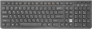 Клавиатура беспроводная Defender UltraMate SM-535 черный