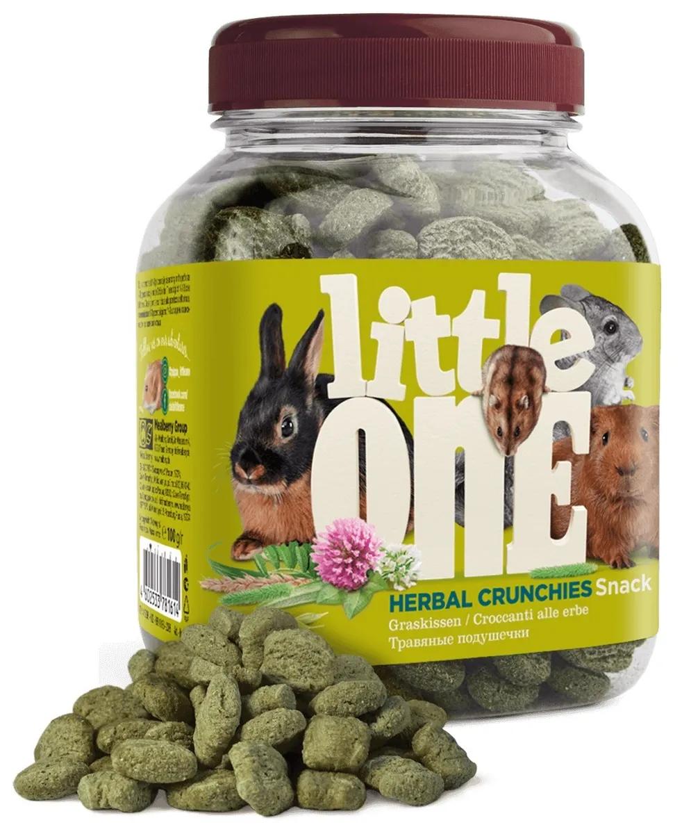 """LITTLE ONE / Лакомство для всех видов грызунов """"Травяные подушечки"""" 100 гр."""