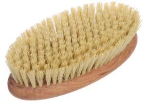 Щетка для сухого массажа - натуральное волокно Тампико без ручки, с покрытием LEI