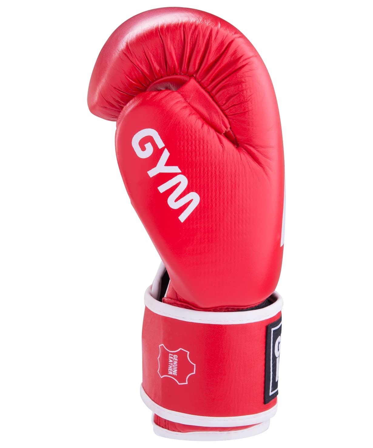 Перчатки боксерские GYM BGG-2018, 10oz, кожа, красные