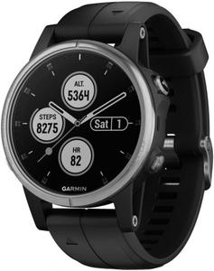 Смарт-часы Garmin Fenix 5S plus Silver/Black, ограниченная гарантия