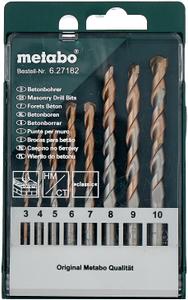Набор сверл Metabo 627182000 по бетону/кирпичу/камню (8пред.) для дрелей