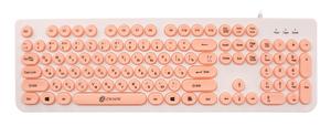Клавиатура проводная Oklick 400MR белый
