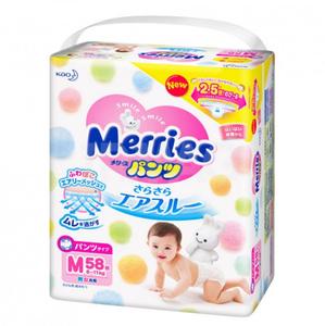Трусики-подгузники  M 58 шт (6-10 кг) Merries