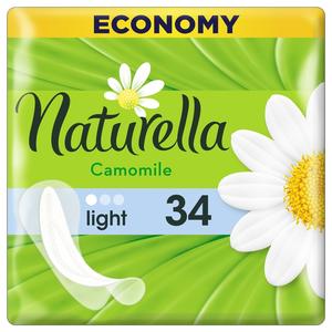Прокладки ежедневные Camomile Light 34шт NATURELLA