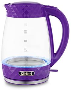 Чайник электрический Kitfort КТ-6123-1 фиолетовый