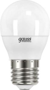 Лампа светодиодная Gauss Elementary Шар 10W 710lm 3000K Е27 LED