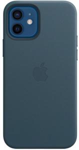Чехол (клип-кейс) Apple для Apple iPhone 12/12 Pro Leather Case with MagSafe синий балтийский (MHKE3