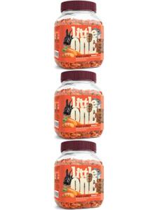 """LITTLE ONE / Лакомство для всех видов грызунов """"Сушеная морковь"""" 200 гр. ( 3 банки)"""