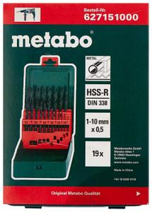 Набор сверл Metabo по металлу HSS-R 19шт 627151000