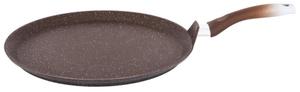 Сковорода-лавашница 350мм,со съемной ручкой,АП (кофейный мрамор)