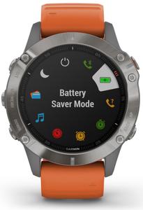 Смарт-часы Garmin Fenix 6 Sapphire оранжевый